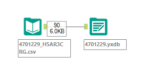 Alteryx Database File from csv
