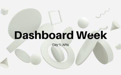 Dashboard Week Day 1: APIs