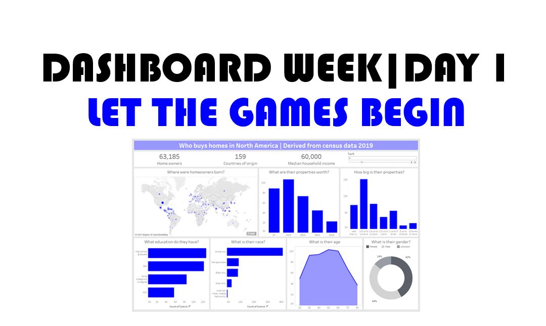 Dashboard week| Day 1