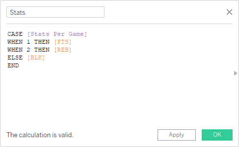 Calculated Field using CASE