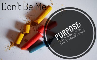 Don't Be Me – Purpose: Who are Using the Dashboards