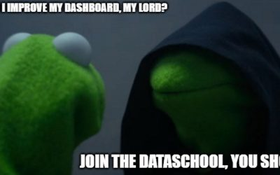 How my dashboard have improved after 4 months with The Data School Down Under?