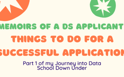 Memoirs of a Data School Applicant: Things to Do for a Successful Application