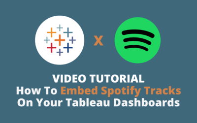Tableau Tip | How To Embed Spotify Tracks Into Your Tableau Dashboards