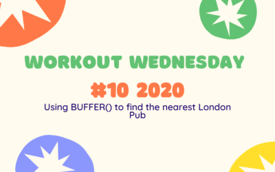 Workout Wednesday #10 2020 ~ Using BUFFER() to find the nearest London Pub